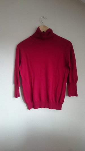 Turtleneck Sweater red cotton