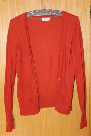 Roter / rostroter Cardigan, Gr. M