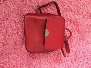 Zara Basic Rugzak donkerrood-rood