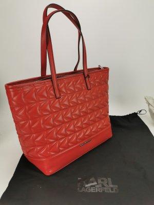 Roter Shopper von Karl Lagerfeld