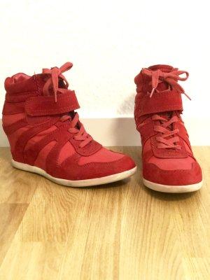 Roter Sneaker mit Keilabsatz | Absatz 8cm | Gr. 38