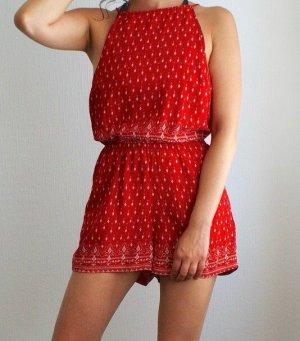 Roter Sommerlicher Coachella Jumpsuit mit Rückenausschnitt
