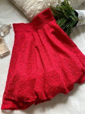 Orsay Lace Skirt red
