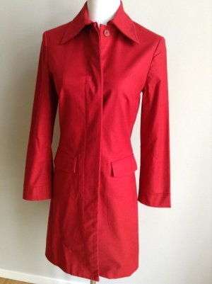 H&M Trench Coat brick red cotton