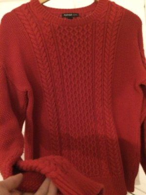 Roter Strick - Pullover