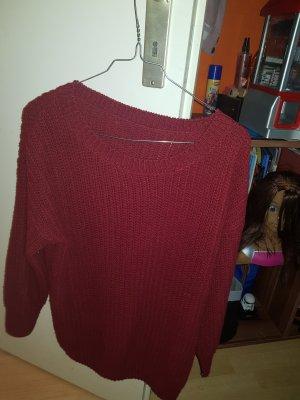 Roter Strick Pullover von Shein