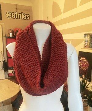 Roter Strick Schlauch Schal sehr warm
