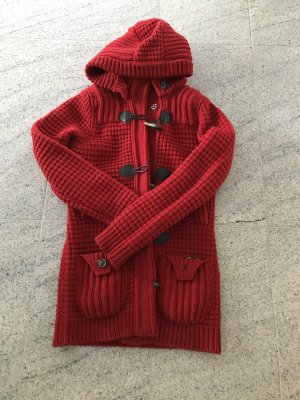 Roter Strickjacke Lanawolle