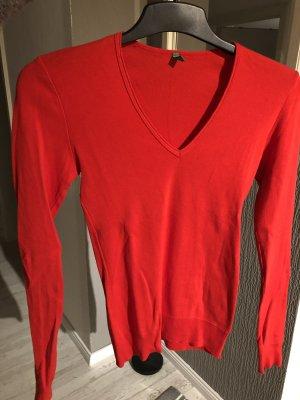 Benetton V-Neck Sweater red