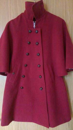 Roter, süßer Mantel mit Fledermausärmeln von Kling, Größe 36