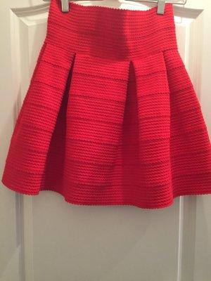 Roter Tellerrock von H&M in Größe S