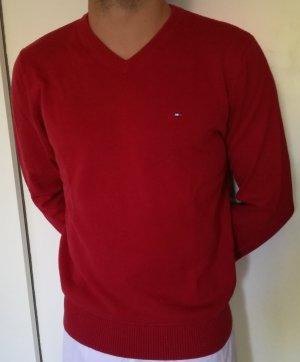 Roter Tommy Hilfiger Pullover Herren Gr. S