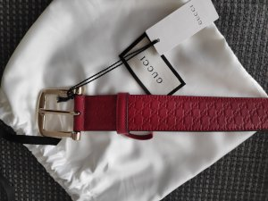 Gucci Leather Belt red-brick red leather