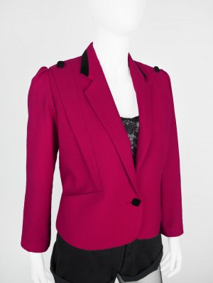 Short Blazer carmine mixture fibre