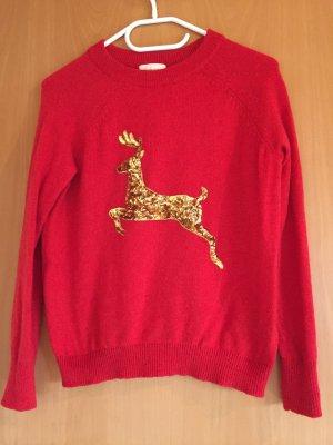 Roter Weihnachtspulli von H&M
