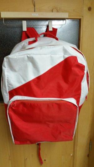 Roter / weißer Rucksack