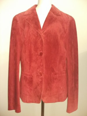 Taifun Leather Blazer dark red