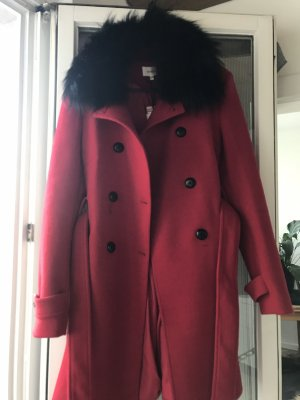 Roter Winter Trenchcoat