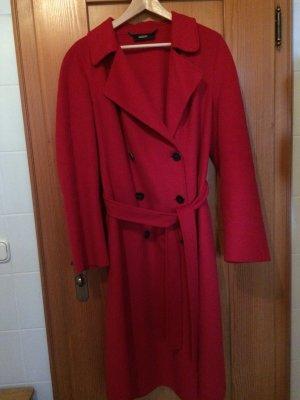 Roter Wintermantel für Damen von  Escada, Schurwolle/Angora, wadenlang