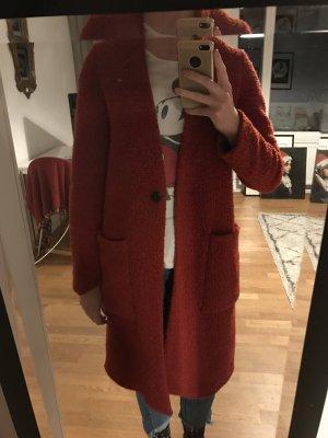 Roter Wollmantel Zara, Größe 36