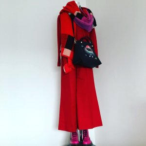 Roter WollMix Pulli mit KaschmirAnteil