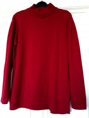 Roter Wollpullover Turtleneck Rollkragen Red Trend Blogger Merino Wool