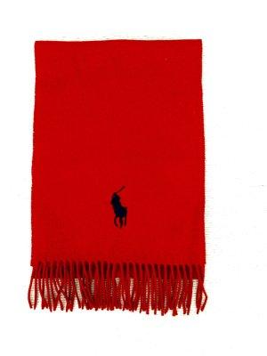 Roter Wollschal mit Logo