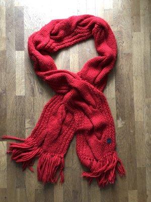 Marc O'Polo Écharpe en tricot rouge foncé