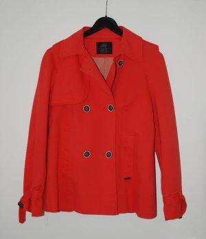Roter Zara Parker/Trenchcoat kurz Größe S