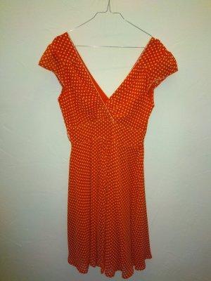 Rotes 50's-/Rockabilly-Kleid mit weißen Punkten (M)