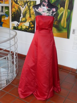 Rotes Abendkleid, Abendrobe, Ballkleid, Gr 38, ohne Träger, Corsage