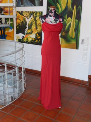 Rotes Abendkleid, Abendrobe, Spaghettiträger, Gr 38, verdeckter Reißverschluß