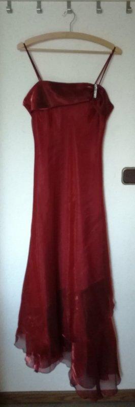 Rotes Abendkleid lang mit Stola