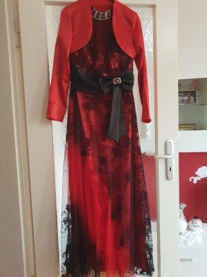 Robe de soirée noir-rouge foncé