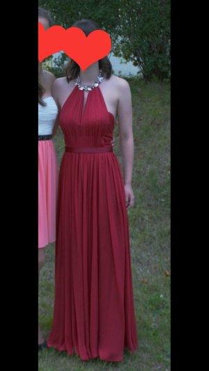 Rotes Abendkleid (z.B. für Abiball, Abschlussfeier)