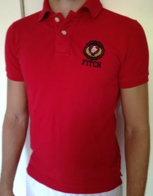 Rotes Abercrombie Polo Shirt Gr. S