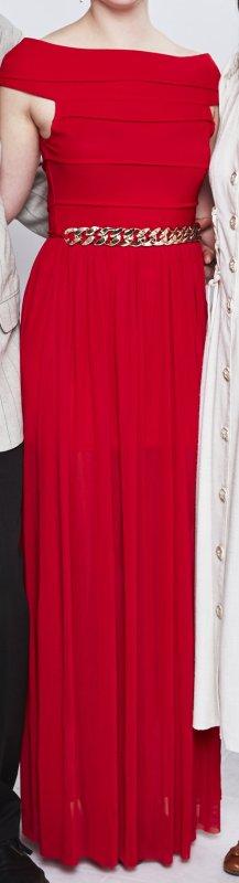 rotes Abiballkleid (Größe 38) zu verkaufen!