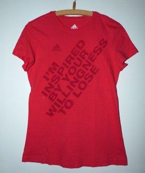 Rotes Adidas Sportshirt