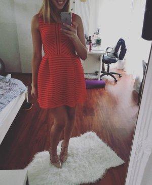 Rotes Ballonkleid A Linien Kleid neu gestreift Sommer Urlaub Hochzeit