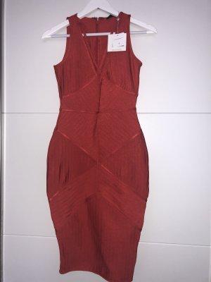 Rotes Bandage Kleid
