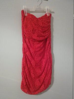 Rotes Bandeau Kleid