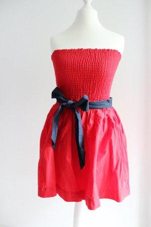 Rotes Bandeau-Kleid von Hollister, rot/blau