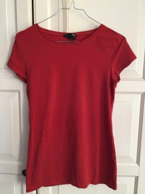 Rotes Basic Jersey Shirt