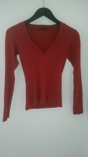 Rotes Basic Langarmshirt von Sisley
