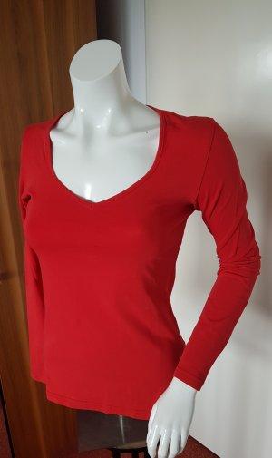 rotes Basic Shirt langarm