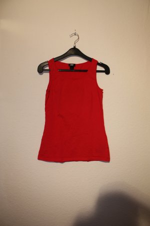 rotes Basic- Top in XS