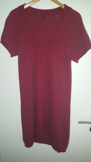 rotes Benetton Strickkleid