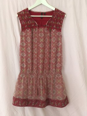 Zara Hippie Dress raspberry-red-salmon