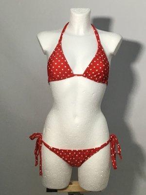 Bikini blanco-rojo