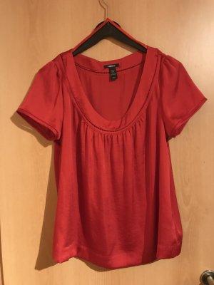 H&M Glanzende blouse rood